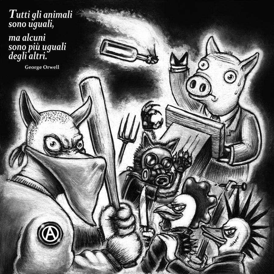 la fattoria degli animali - graficanera - NO COPYRIGHT