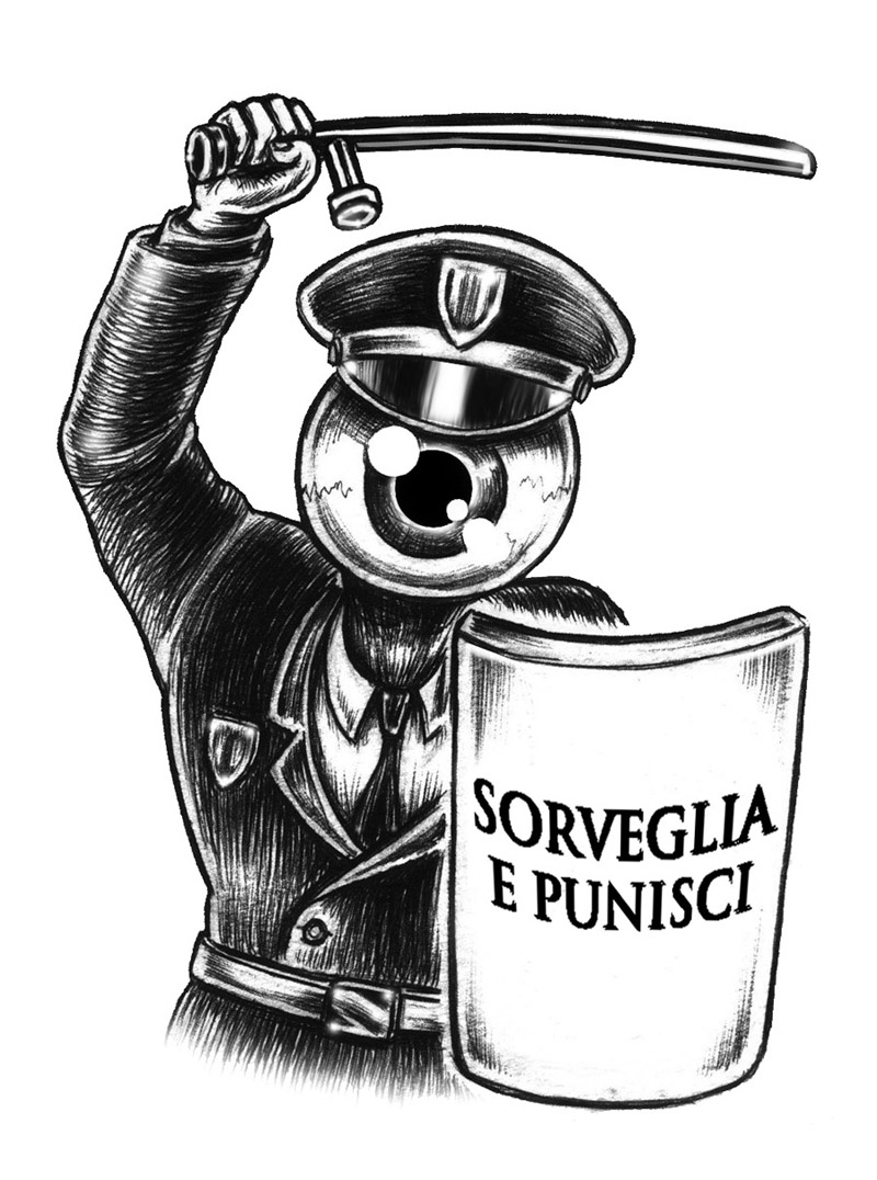 sorveglia e punisci - graficanera - NO COPYRIGHT