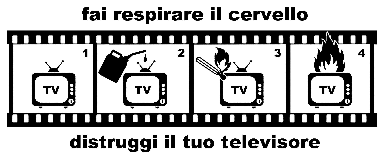 distruggi il tuo televisore - graficanera - NO COPYRIGHT