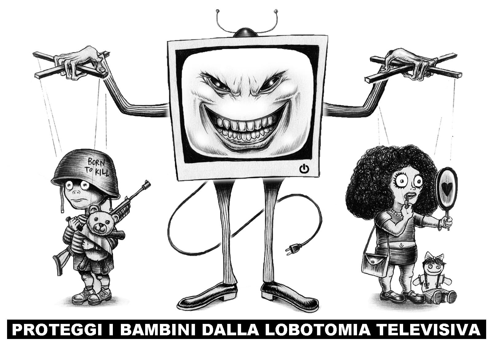 lobotomia televisiva - graficanera - NO COPYRIGHT