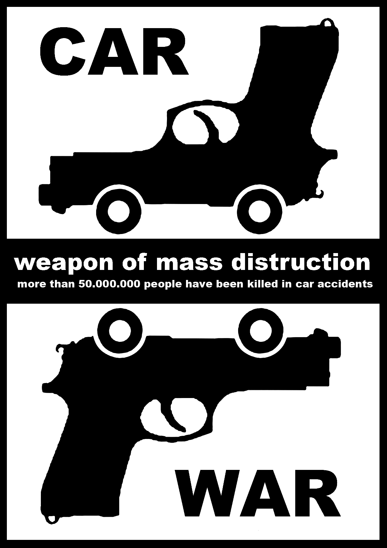 car war ( critical mass ) - graficanera - NO COPYRIGHT