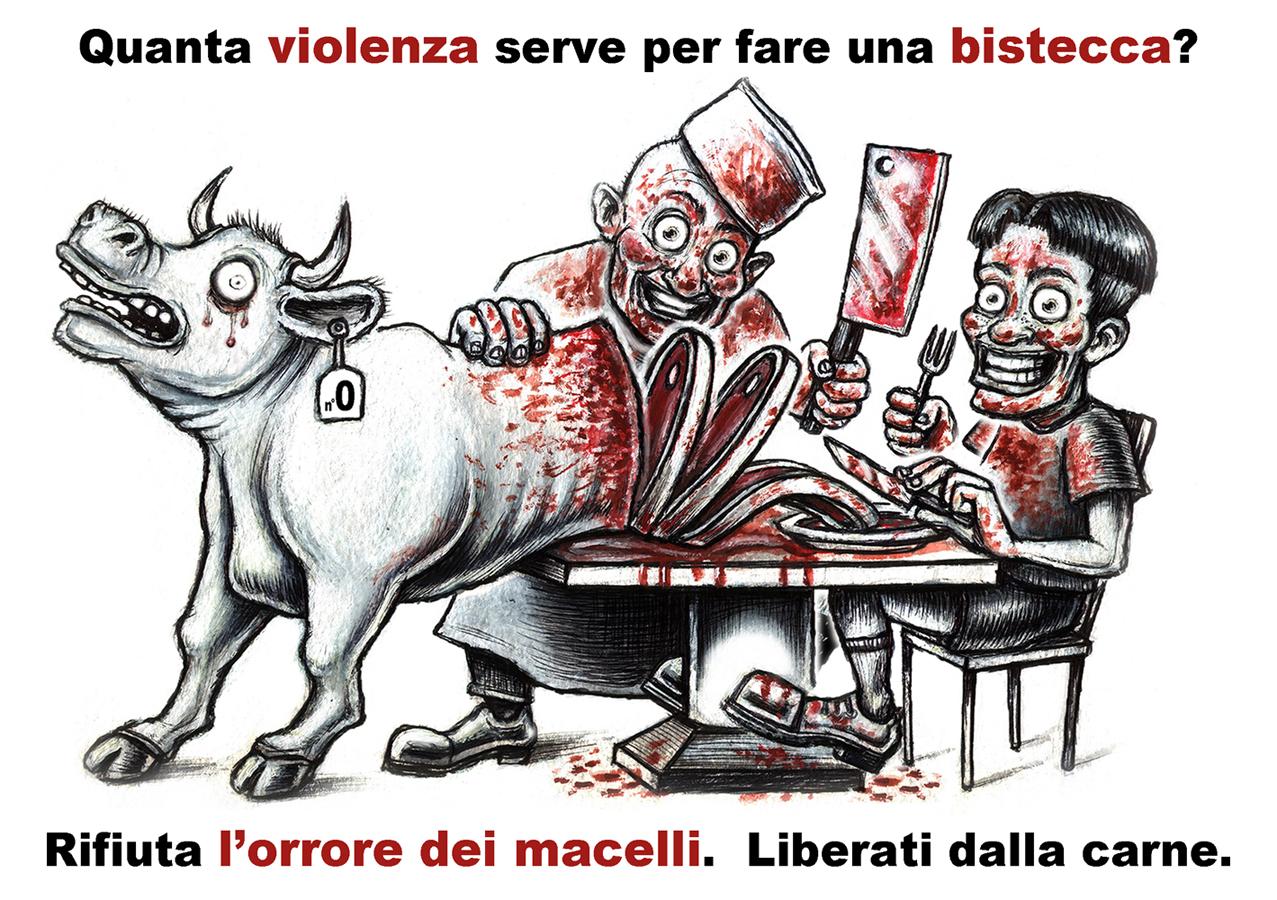 carne e violenza - graficanera - NO COPYRIGHT