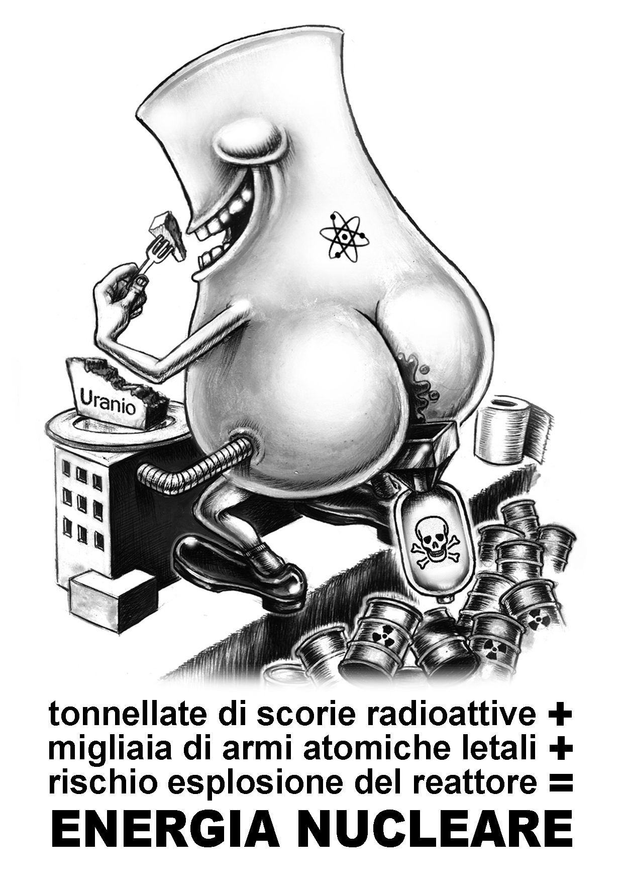 energia nucleare - graficanera - NO COPYRIGHT