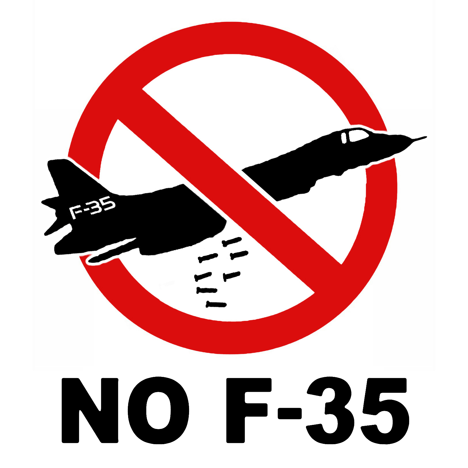 NO F35 - graficanera - NO COPYRIGHT
