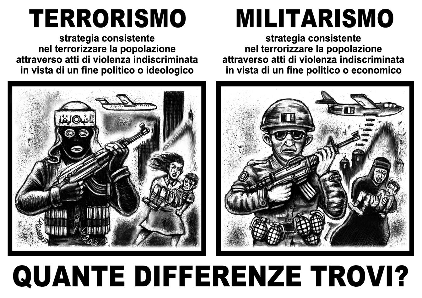 militarismo terrorismo - graficanera - NO COPYRIGHT
