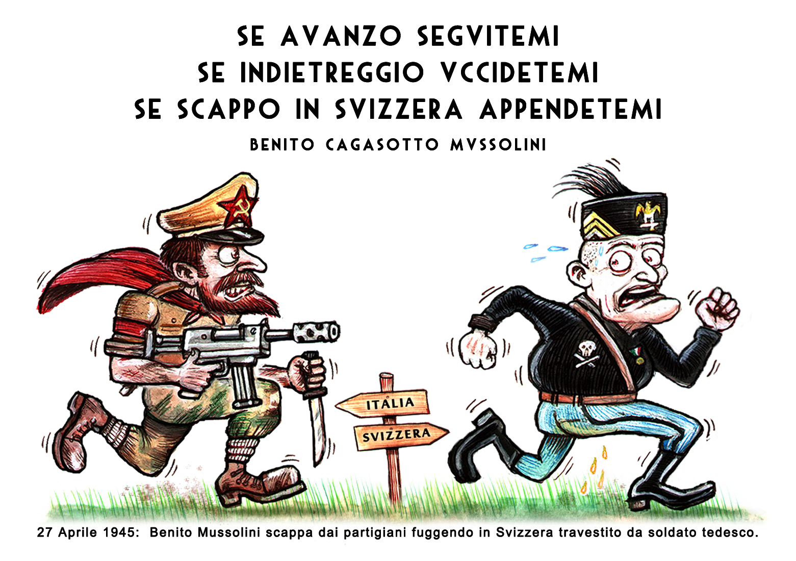 benito goes to switzerland - graficanera - NO COPYRIGHT
